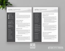 2 Page Cv Template Cv Template For Ms Word Professional Curriculum Vitae Cv