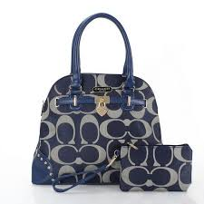 Coach Edie Shoulder Bags In Signature Jacquard Blue ...