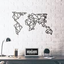 metal wall art  world map  hoagardco