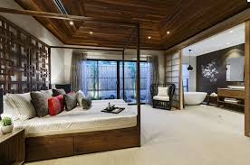 japanese style bedroom furniture. Attractive Bedroom Furniture Using Corner Chair Also Bed With Canopy Japanese Style