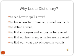 Dictionary Skills 3rd Grade. - ppt video online download