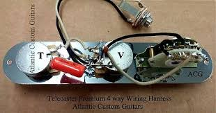 telecaster tele 4 way wiring harness cts sprague treble bleed mod telecaster tele 4 way wiring harness cts sprague treble bleed mod 4