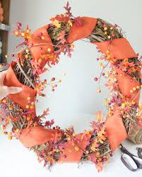 Fall Wreath Craftaholics Anonymousar Diy Fall Wreath With Monogram Pumpkin