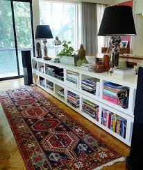 DIY BILLY Bookcases behind a Couch