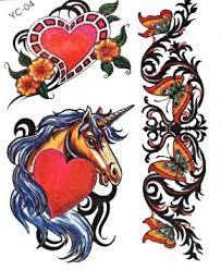 Tattoos Tetování Kůň Srdce Motýli Nové
