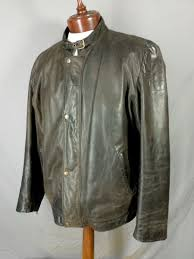 wilsons leather m julian motorcycle jacket cafe racer moto brown extra large 1 of 8only 1 available