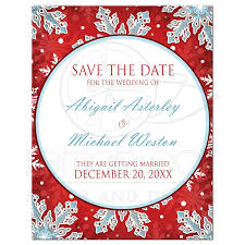 Red Save The Date Cards Save The Date Cards Modern Red White Blue Snowflake