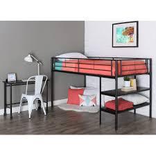 bedroom full size metal bunk frame stora loft weight limit with desktop wood desk shelves