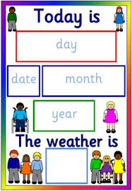 Day Date Weather Chart Multicultural Calendar And Weather Chart Diversity Children Display