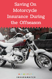 how to save on motorcycle insurance in the winter