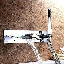 wall mount bathtub faucet with hand shower tub faucets with chrome finish color changing wall mount wall mount bathtub faucet