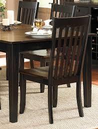 three falls side chair slat back two tone dark brown black sand