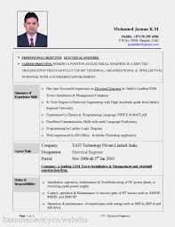 Electrician Resume Sample Excellent Apprentice Electrician Resume Objective Examples Gallery 64