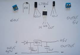 arduino 5v power supplies l7805 circuit diagram