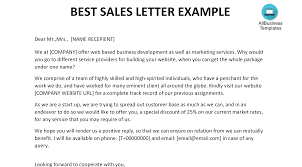 Sales Letter Sales Letter Example Templates At Allbusinesstemplates Com