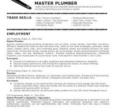 Plumber Resume Sample Coachfederation