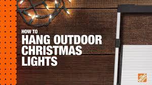 How To Hang Christmas Lights The Home Depot