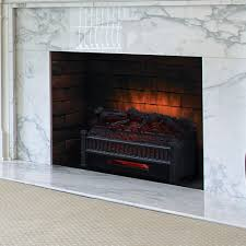 comfort smart 23 in infrared electric fireplace log set elcg240 inf