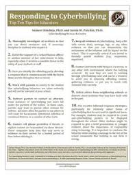 the cyberbullying prevention book just got better  responding to cyberbullying top ten tips for educators