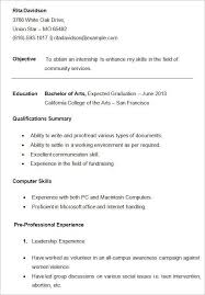 College Resume Templates Free Free For You Resume Template College