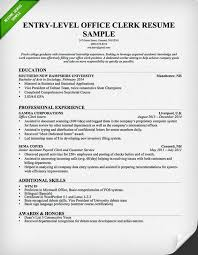 Cover Letter For Office Clerk Adorable EntryLevel Office Clerk Resume Download This Resume Sample To Use