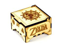 legend of zelda hyrule historia jewelry box w mirror custom ethced baltic birch wood