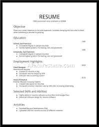 Easy Resume Stunning Easy Resumes Format For Simple Resume Utmostus