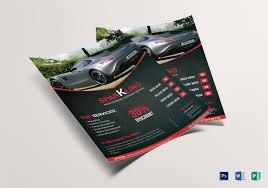 Car Wash Flyer Design Template In Word, Psd, Publisher