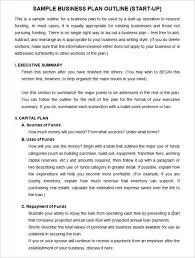 Startup Business Plan Sample Startup Business Plan Example Startup Business Plan
