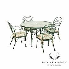 wrought iron antique dining sets for