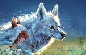 Photo Wallpaper Girl Princess Mononoke Wolves Princess Princessa Mononoke Moro 1332x850 Wallpaper Teahub Io