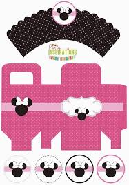 free printable minnie box and cupcake wrappers and toppers