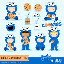 baby cookie monster clip art. COOKIES MONSTERS Digital Clipart Cookie Numbers Baby Monster To Clip Art