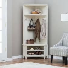 white entryway furniture. White Entryway Corner Hall Tree Coat Rack Indoor Home Furniture Decor Shoe Bench Belhamliving