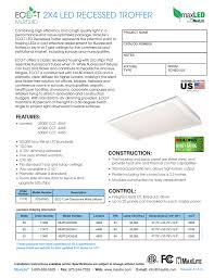 Troffer Light Spacing 2x4 Led Recessed Troffer