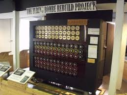 alan turing christopher machine. recreation of the bombe (a code-breaking machine) on display in block b alan turing christopher machine