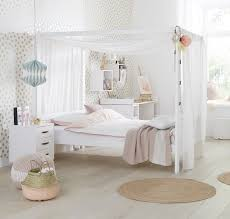 Solid Wood White Bedroom Furniture Four Poster Bed With Canopy 3 4 White For Children In Sa