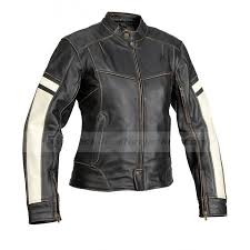dame vintage womens black leather motorcycle jacket