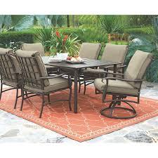 home decorators collection gabriel espresso bronze 7 piece patio dining set with beige cushions