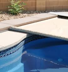 automatic pool covers for odd shaped pools. This Close Up Of An Automatic Pool Cover Track Gives You Idea On How Covers For Odd Shaped Pools