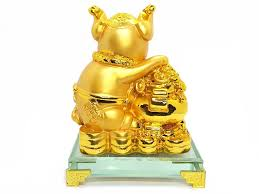 prosperity golden pig with wealth pot prosperity golden pig with wealth pot