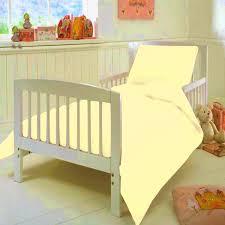 t200 junior cot bed lemon duvet cover set egyptian cotton plain dyed yellow