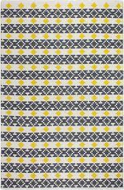 fab habitat estate hand woven yellow gray indoor