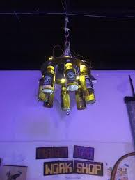 picture of chandilibeer the led beer bottle chandelier
