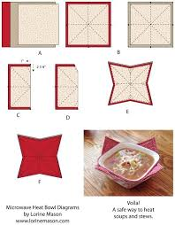 Microwave Bowl Holder Pattern Adorable MIcrowave Heat Bowls Lorine Mason Fast And Easy Sewing Projects