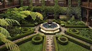 Small Picture garden courtyard hotel bushes fountain geometric HD Wallpapersjpg