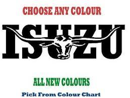 Isuzu Colour Chart Details About Isuzu 1000mm Longhorn Choice Of Colours Decal Sticker Truck Ute Rm Williams