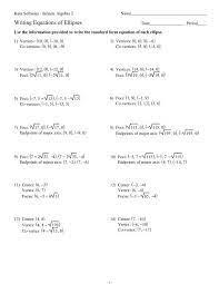 equations of ellipses kuta