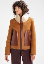 vsp leather jacket bone whisky womens high collar jackets xj7pmpzi