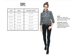 Madewell Jeans Size Chart Clothing Size Charts Measurement Guide Madewell